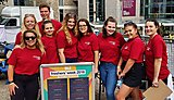 Events students working for the UPSU promo team during Freshers Week 2018