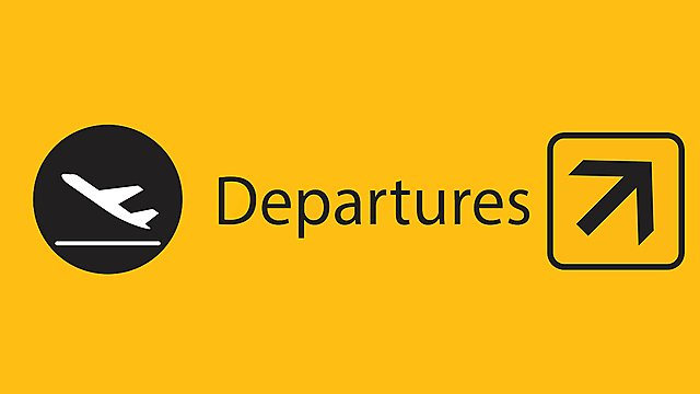 <p>Departures airport sign</p>