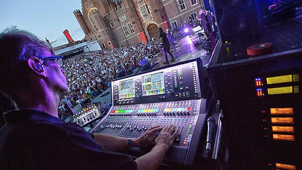 Figure: Live audio mixing  (Tom Howart and Bryan Ferry, Credit, Lee Wilkinson Photography).