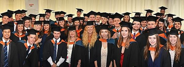 <p>Geography students at graduation</p>