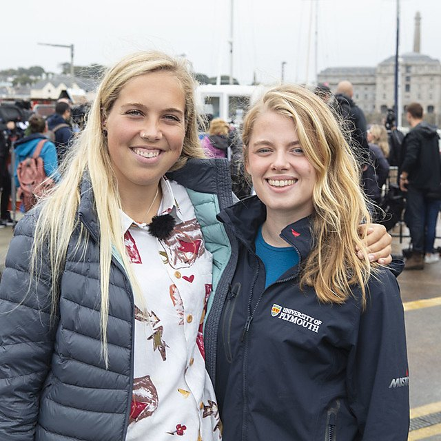 <p>Emily Stevenson and imogen Napper at the press conference</p>
