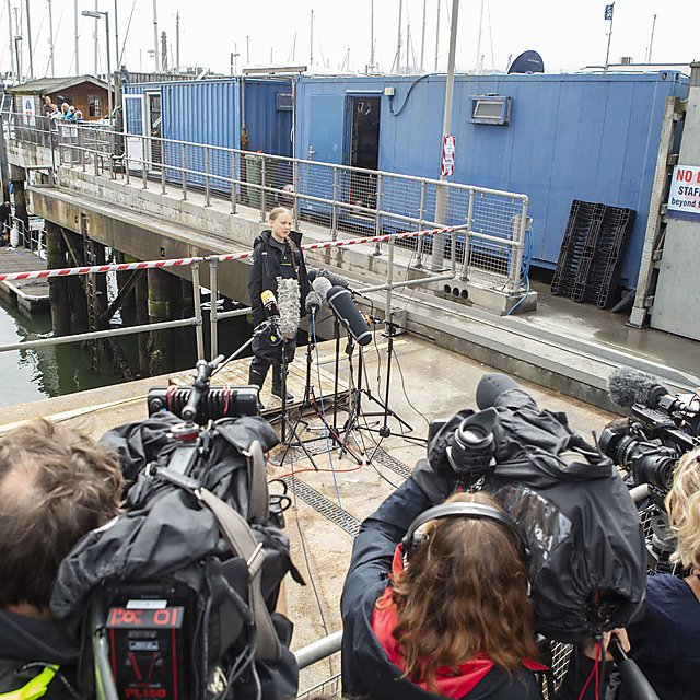<p>Greta Thunberg speaks to the world's media</p>