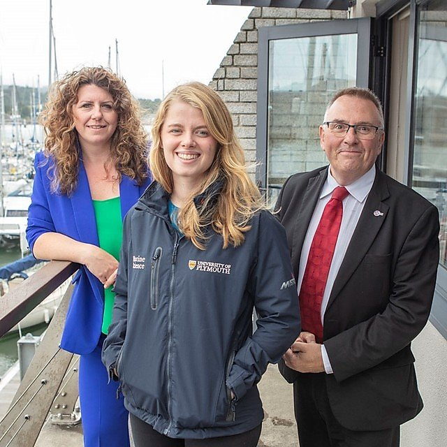 <p>Sarah Gibson, manager of the Plymouth Waterfront Partnership, Dr Imogen Napper, and university graduate and City Council leader Tudor Evans<br></p>