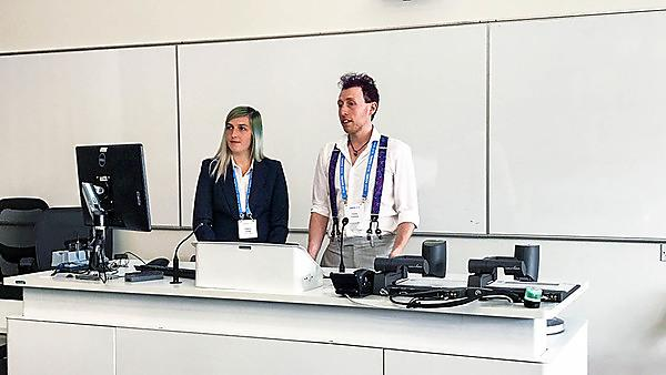 Undergraduate students present robot design at Towards Autonomous Robotic Systems (TAROS) conference