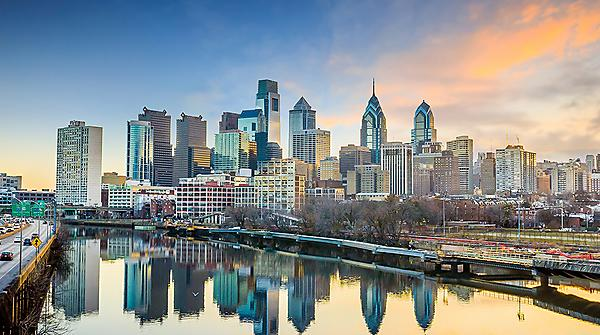 <p>Downtown Skyline of Philadelphia, Pennsylvania at twilight in USA<br></p>