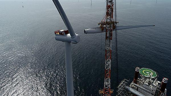 When complete, Hornsea 1 will have 174 turbines, each able to power a home for 29 hours with just one spin. Image credit: Ørsted