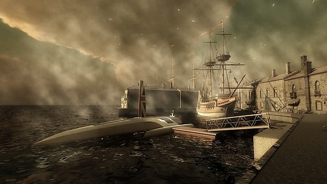 <p>  Mayflower Autonomous Ship in historic dock - credit Bob Stone, Human Interface Technology Team, University of Birmingham  <br></p>