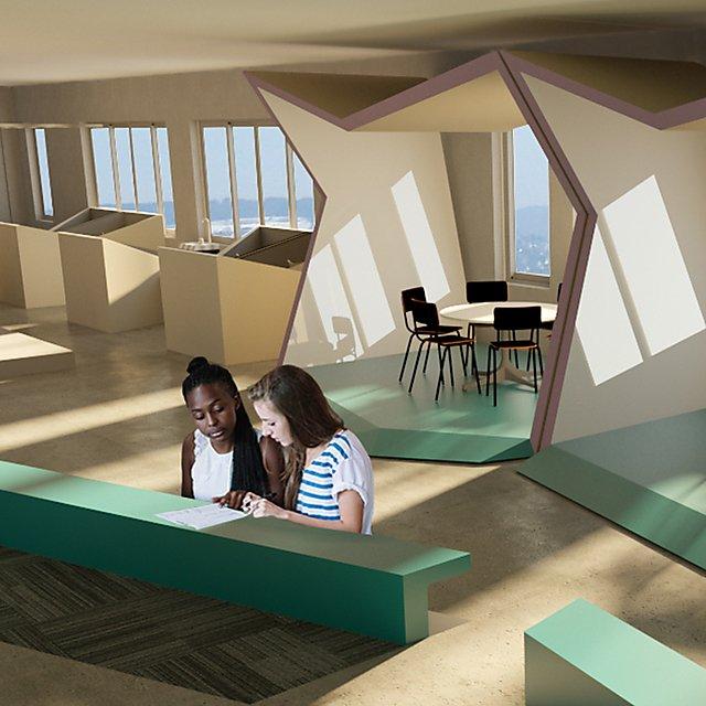 <p>Shannon Garvey Interior Design student work square</p>