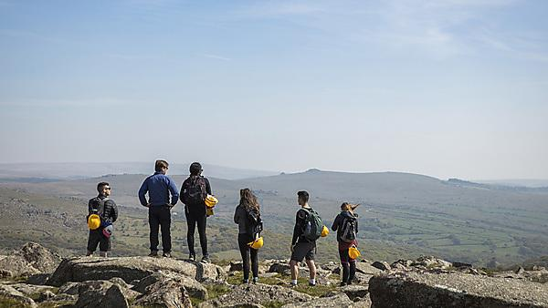 <p>Professor Greg Price with students