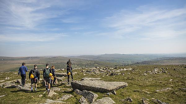 <p>Geology students on field trip to Dartmoor with Professor Gregory Price<br></p>