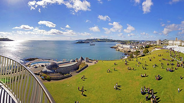 <p>The view from Smeaton Tower on Plymouth Hoe</p>