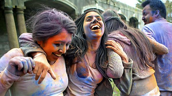 Holi festival 2018, at the University of Plymouth's Drake's Place Gardens