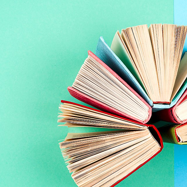 <p>Colourful books</p>