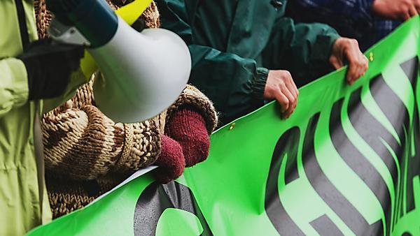 <p>Climate change protestors</p>