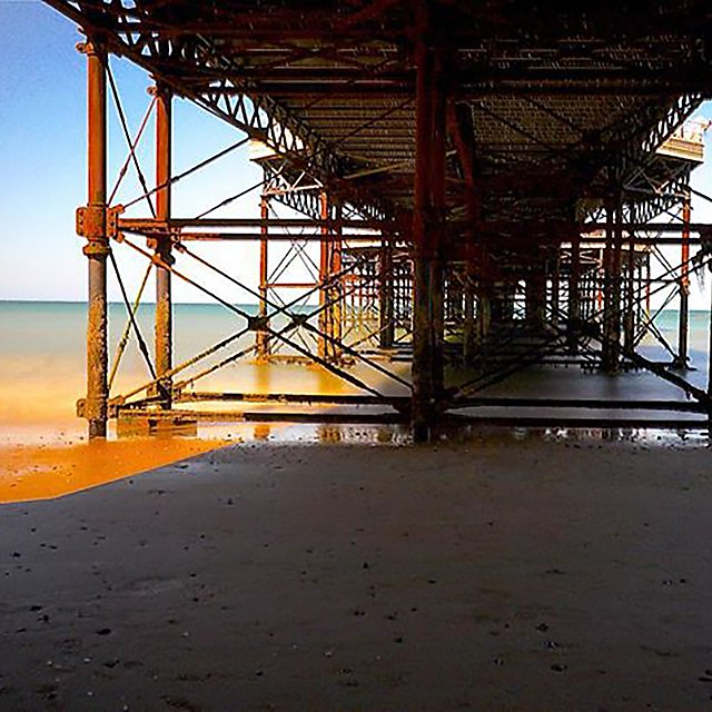 <p>The sea at Cromer.</p>