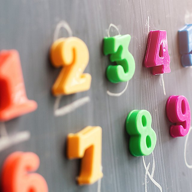 <p>Learning numbers on a blackboard<br></p>