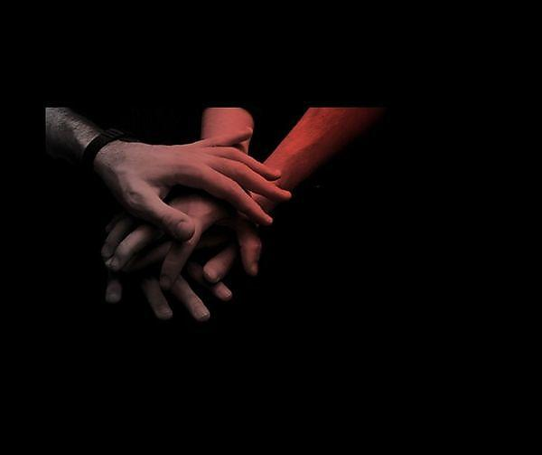 <p>Hands joining together in unison</p>