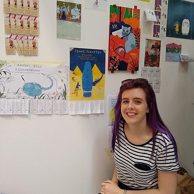 <p>Jenni Scrampton illustration student&nbsp;</p>