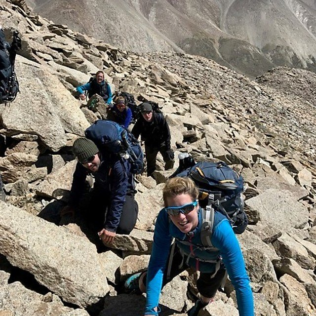 <p>Dr Lucy Obolensky on expedition in the Himalayas</p>