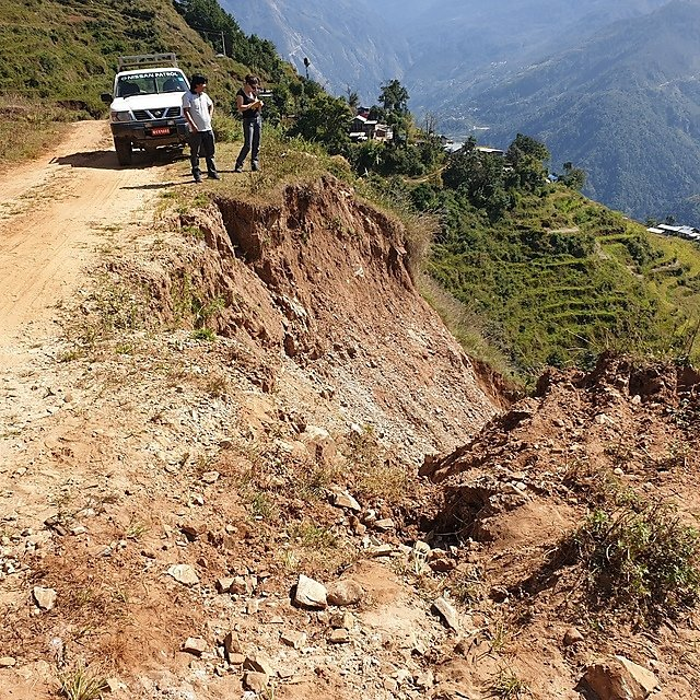 <p>An&nbsp;example of a perilous 'road' we routinely had to negotiate    </p>