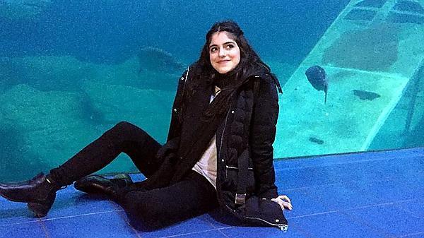 Panayiota Constantinidou at the National Marine Aquarium