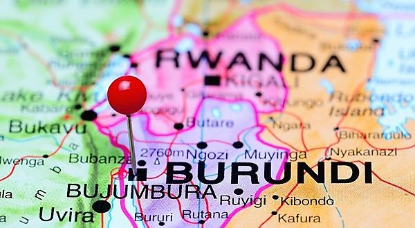 <p>Photo of pinned Bujumbura on a map of Africa<br></p>