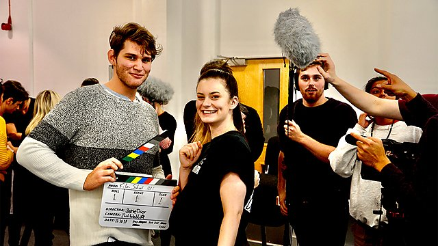 <p>Filmmaking students</p>