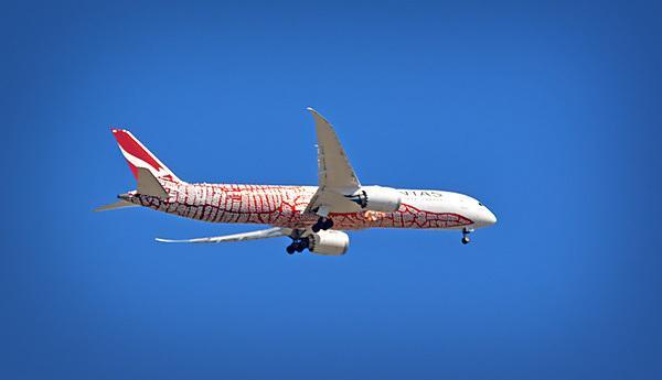 A Qantas 787 Dreamliner
