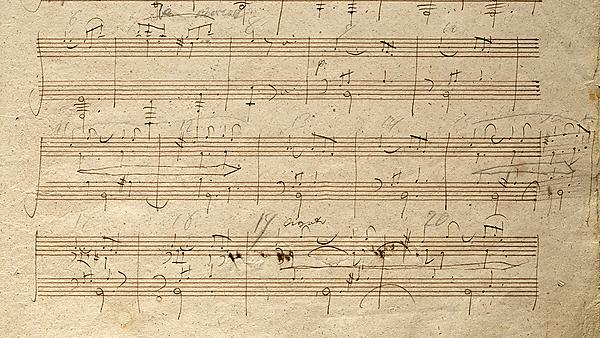 <p>Beethoven Autograph of Sonata Op109, 2nd movement. Library of Congress, Washington, DC<br></p>
