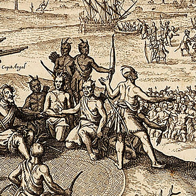 <p>By Johann Theodore de Bry after Georg Keller Engraving from book page, 1619 Plate 9 from America, Part 10<br></p>