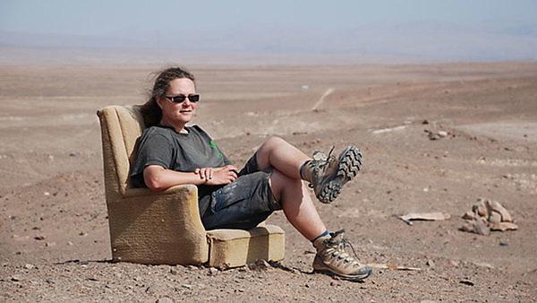 Relaxing in the Atacama Desert, Chile