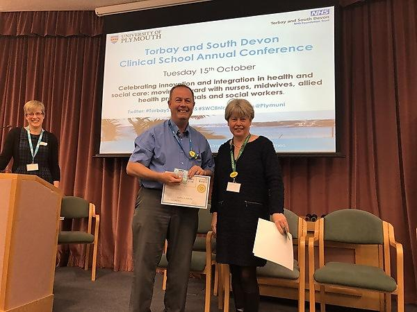 Richard Collings, Team Lead Podiatrist, Torbay and South Devon NHS Foundation Trust and NIHR Clinical Doctorate Fellowship Researcher - winner of the Excellence in Leadership Award.