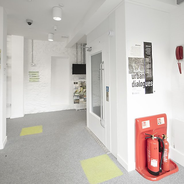 <p>Sustainability Hub - entrance</p>