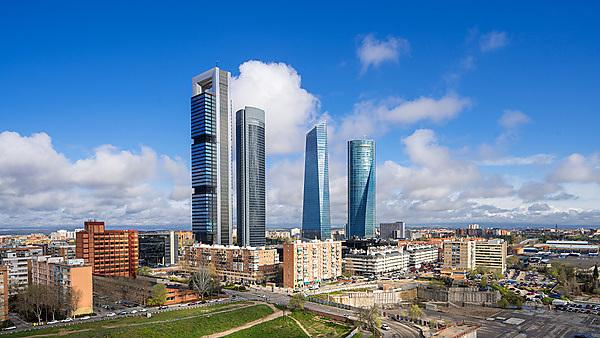 <p>The financial district skyline in
