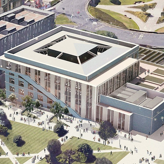 <p>An initial concept design showing an aerial view of how the new Engineering and Design facility could look<br></p>