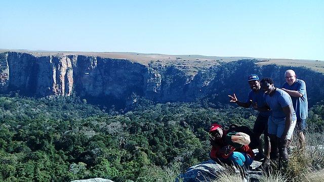 <p>Wild Coast, Mkambati, group at gorge<br></p>