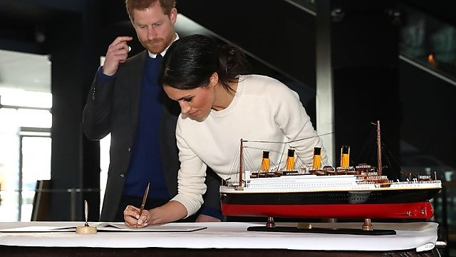 <p>Prince_Harry_and_Ms._Markle_visit_Titanic_Belfast_(40973168971) Northern Ireland Office [CC BY (httpscreativecommons.orglicensesby2.0)]<br></p>