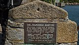 Plaque on Plymouth Barbican commemorating the landing of the 'Torpuddle Marytrs'
