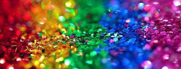 <p>lgbt pride rainbow flag in glitter</p>