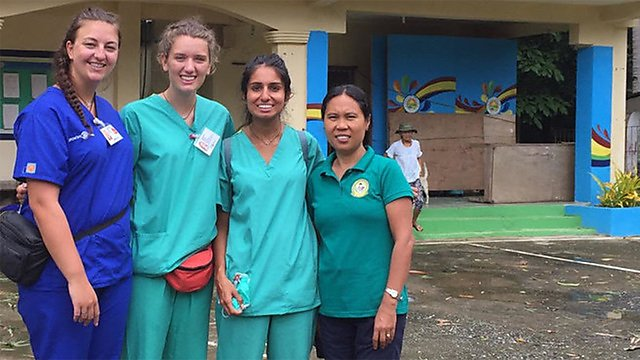 <p>  Radha Metha and colleagues at hospital.<br></p>