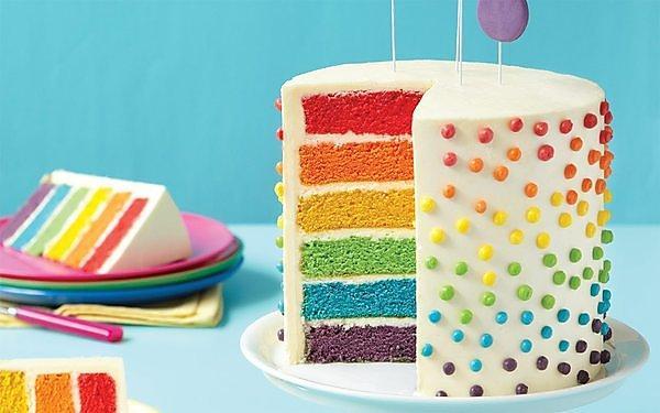 <p>Rainbow cake&nbsp;</p>