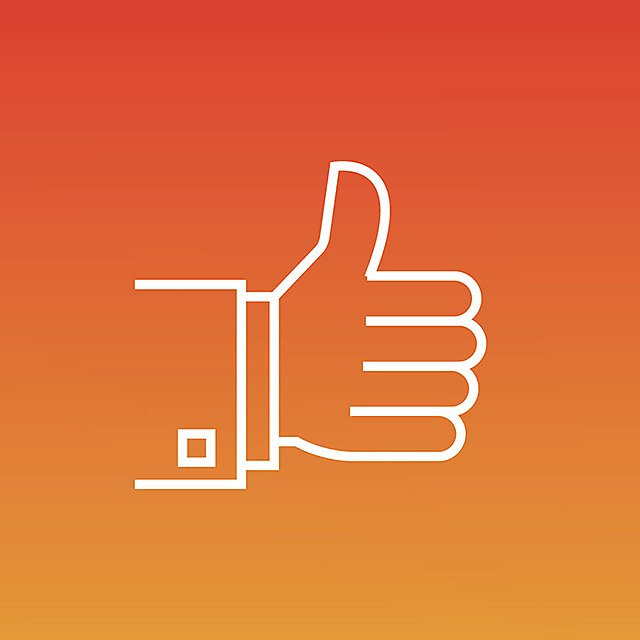 <p>Thumbs up icon</p>