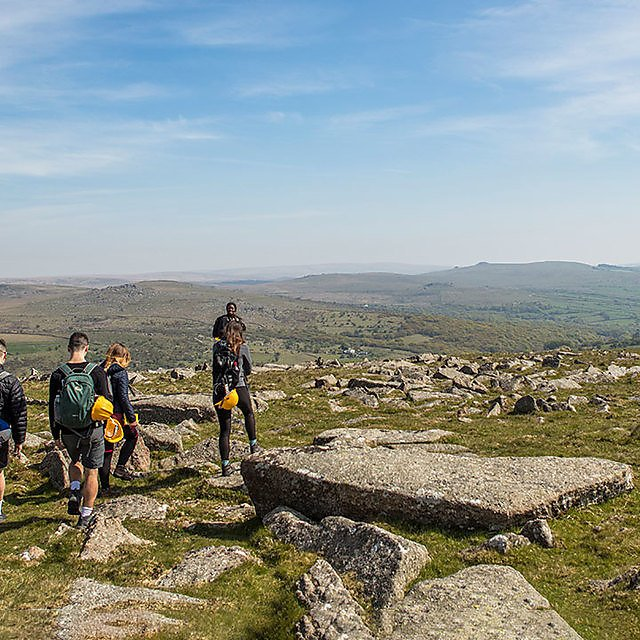 <p>Geology students, Dartmoor National Park</p>