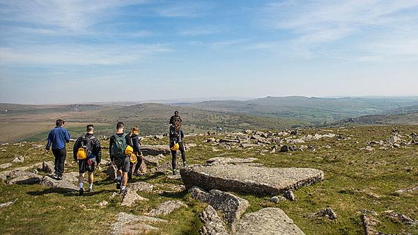 <p>Geology students on Dartmoor (hero)</p>