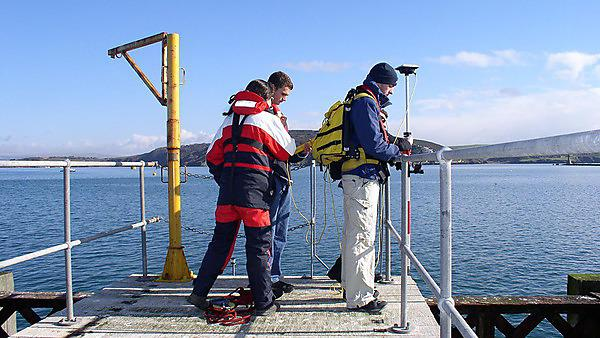 Hydrography students on fieldwork
