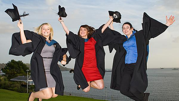 City College Plymouth students at graduation
