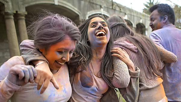 The Hindu Society celebrating Holi and Mahashivratr