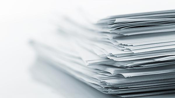 Courtesy of Shutterstock. papers paperwork paper