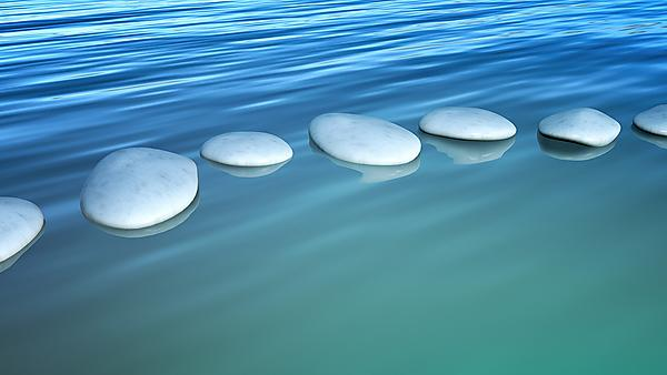 stepping stone on the water, courtesy of Shutterstock