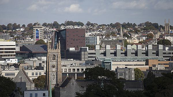 View of Plymouth University from Smeaton's Tower